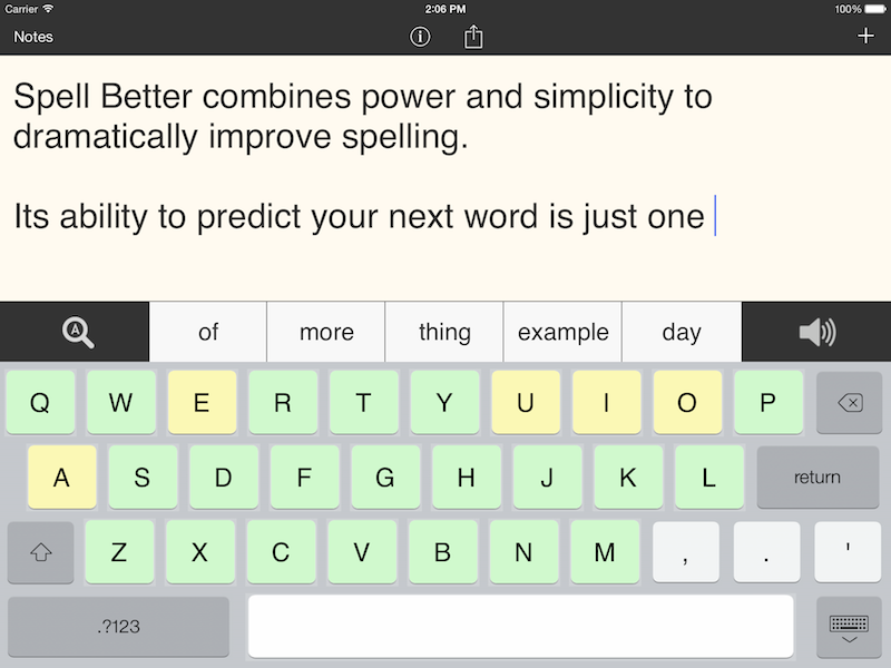 Spell Better for iPad - Literacy Support for Dyslexia, Dysgraphia