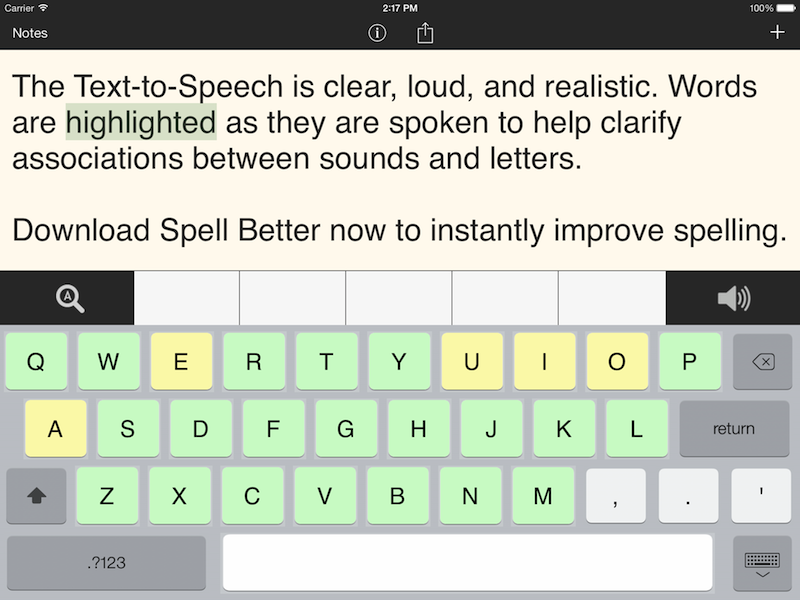 Spell Better for iPad - Literacy Support for Dyslexia